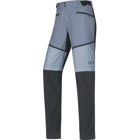 GORE WEAR H5 Windstopper Pantalones Híbridos Hombre, black/cloudy blue